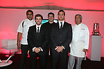 Cardiff Blues - British Lions dinner at Cottrell Park.<br /> Chefs Anand George, MassimoBishop-Scotti &amp; Spiro Borg with Leigh Halfpenny &amp; Sam Warburton<br /> 12.09.13<br /> <br /> &copy;Steve Pope-SPORTINGWALES
