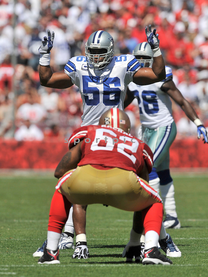 BRADIE JAMES, of the Dallas Cowboys, in action during the Cowboy's game against the 49ers on September 18, 2011 at Candlestick Park in San Francisco, CA. The Cowboys beat the 49ers 27-24 in OT.