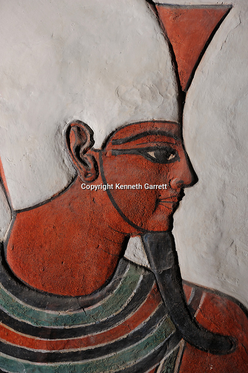 Zahi Hawass Secret Egypt Travel Guide; Egypt; archaeology; Luxor; West Bank; Valley of the Queens; Tomb of Nefertari,New Kingdom; wife of Ramses II; Ramesses the Great, god, Atum, pshent crown