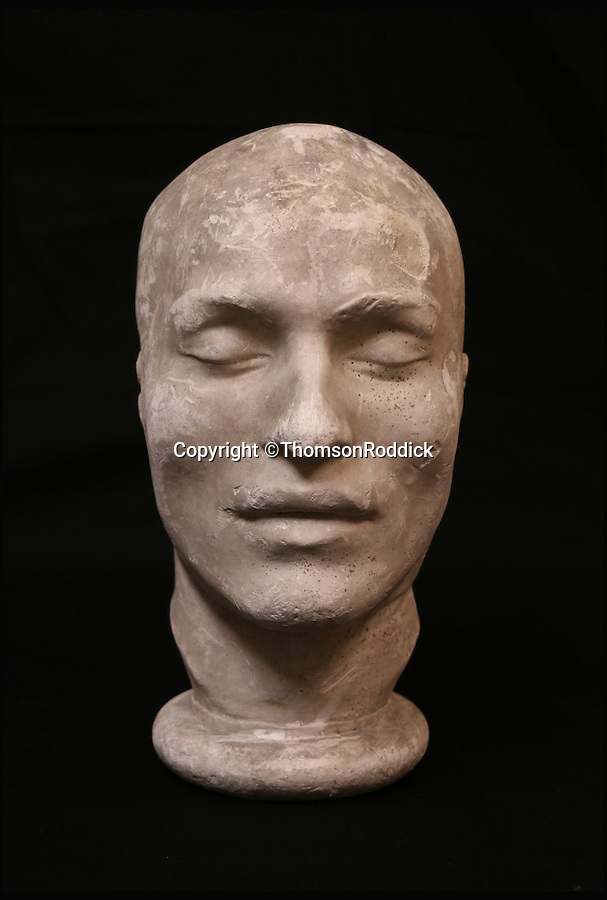 BNPS.co.uk (01202 558833)<br /> Pic: ThomsonRoddick/BNPS<br /> <br /> 19th century plaster death mask head, of Francois Benjamin Courvoisier, murderer of Lord William Russell.<br /> <br /> These disturbing Victorian plaster cast heads of notorious criminals are a far cry from today's bland mugshots of lowlifes.<br /> <br /> Two of the heads have been identified as Benjamin Courvoisier, a serial killer in the mould of Jack the Ripper, and coachman Daniel Good who mutilated his pregnant mistress. <br /> <br /> In total, nine heads were discovered at an outbuilding at a rural home just outside Penrith, Cumbria, which have now fetched almost £40,000 at auction. <br /> <br /> Experts predicted the collection of heads would sell for £2,000  but Courvoisier's head alone went for £20,000.<br /> <br /> Two of the heads were made by the famous British exponent of phrenology, James De Ville, who built a private museum of more than 5,000 specimens.