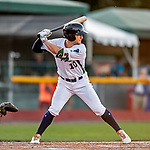 29 August 2019: Vermont Lake Monsters designated hitter Marty Bechina in action during a game against the Connecticut Tigers at Centennial Field in Burlington, Vermont. The Lake Monsters fell to the Tigers 6-2 in the first game of their NY Penn League double-header.  Mandatory Credit: Ed Wolfstein Photo *** RAW (NEF) Image File Available ***