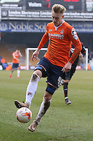 Joe Pigott of Luton Town during the Sky Bet League 2 match between Luton Town and Crawley Town at Kenilworth Road, Luton, England on 12 March 2016. Photo by David Horn/PRiME Media Images.