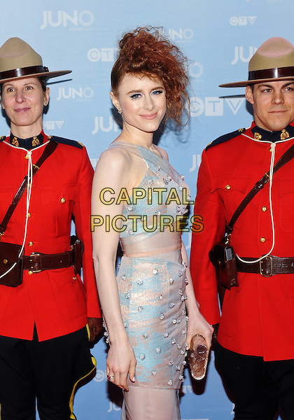 15 March 2015 - Hamilton, Ontario, Canada.  Kiesza poses on the red carpet during the 2015 JUNO Awards at FirstOntario Centre. <br /> CAP/ADM/BPC<br /> &copy;Brent Perniac/AdMedia/Capital Pictures