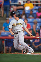 Trenton Thunder second basmean Tony Renda (9) at bat during a game against the Binghamton Mets on August 8, 2015 at NYSEG Stadium in Binghamton, New York.  Trenton defeated Binghamton 4-2.  (Mike Janes/Four Seam Images)