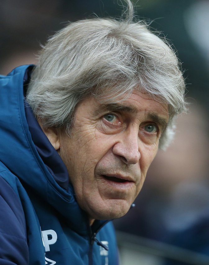 West Ham United manager Manuel Pellegrini <br /> <br /> Photographer Rob Newell/CameraSport<br /> <br /> Emirates FA Cup Third Round - West Ham United v Birmingham City - Saturday 5th January 2019 - London Stadium - London<br />  <br /> World Copyright © 2019 CameraSport. All rights reserved. 43 Linden Ave. Countesthorpe. Leicester. England. LE8 5PG - Tel: +44 (0) 116 277 4147 - admin@camerasport.com - www.camerasport.com