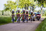 Parkhotel Valkenburg Continentalteam (PVC), Stage 2: Team Time Trial, 62th Olympia's Tour, Netterden, The Netherlands, 13th May 2014, Photo by Thomas van Bracht / Peloton Photos