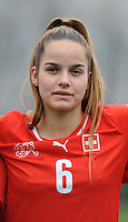20160211 - TUBIZE , BELGIUM :  Switzerland's Sina Hirschi pictured during the friendly female soccer match between Women under 17 teams of  Belgium and Switzerland , in Tubize , Belgium . Thursday 11th February 2016 . PHOTO SPORTPIX.BE DIRK VUYLSTEKE