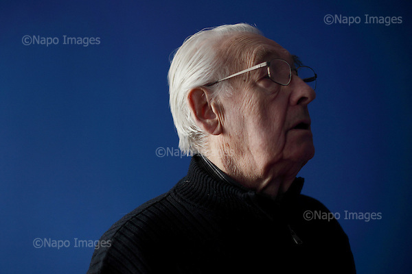 WARSAW, POLAND, MARCH 17, 2011:.Polish film director Andrzej Wajda during interview at his office in Warsaw, Poland, March 17, 2011..Wajda received an Oscar prize in 2000..(Photo by Piotr Malecki / Napo Images)..WARSZAWA, 17/03/2011:.Rezyser Andrzej Wajda.Fot: Piotr Malecki / Napo Images