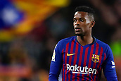 2nd February 2019, Camp Nou, Barcelona, Spain; La Liga football, Barcelona versus Valencia; Nelson Semedo of FC Barcelona looks the grandstand after losing control of the ball