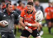 14th September 2017, Alexandra Park, Auckland, New Zealand; New Zealand Rugby Training Session;  Ian Foster and Beauden Barrett