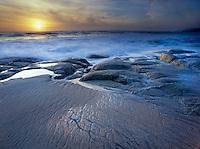 Carmel River State Beach at sunset, Carmel CA