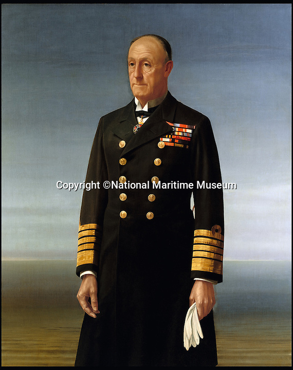BNPS.co.uk (01202 558833)<br /> Pic: NationalMaritimeMuseum/BNPS<br /> <br /> ***Only To Be Used In Connection with Book***<br /> <br /> Admiral of the Fleet John Jellicoe, 1st Earl Jellicoe (1859-1935). Sir Walter Thomas Monnington. BHC2804<br /> <br /> Poignant 'forgotten' works of art revealing the plight of those who fought at sea in the two world wars have come to light in the first ever book dedicated to the subject.<br /> <br /> Art and the War at Sea features dozens of unseen, 'lost' or little-known paintings and sketches showing the reality of life onboard naval and merchant ships in wartime.<br /> <br /> While countless books have been written about paintings created on Europe's Western Front during conflict, this is the first ever to focus on maritime and naval art from WWI and WWII.<br /> <br /> Art and the War at Sea: 1914-1945 is published by Lund Humphries and costs &pound;40.