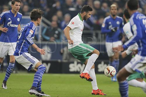 24.01.2016. Gelsenkirchen, Germany. German Bundesliga soccer match between FC Schalke 04 and Werder Bremen in the Veltins Arena. Claudio PIZARRO, BRE