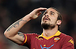 Calcio, Serie A: Roma vs Milan. Roma, stadio Olimpico, 22 dicembre 2012..AS Roma forward Pablo Daniel Osvaldo reacts during the Italian Serie A football match between AS Roma and AC Milan at Rome's Olympic stadium, 22 December 2012.UPDATE IMAGES PRESS/Riccardo De Luca