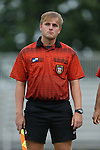 30 August 2015: Assistant Referee Patrick Schmidt. The Duke University Blue Devils hosted the William & Mary University Tribe at Koskinen Stadium in Durham, NC in a 2015 NCAA Division I Women's Soccer game. Duke won the game 2-0.