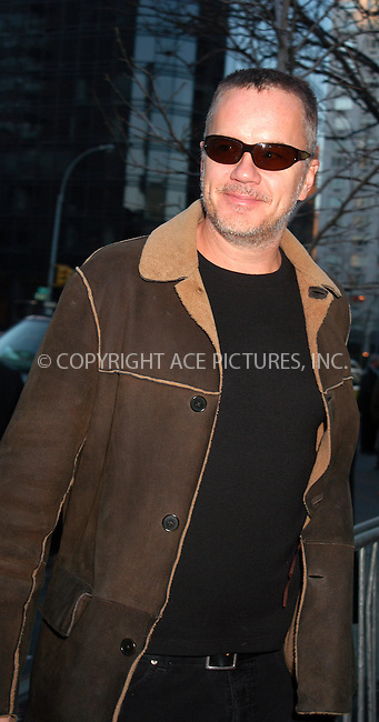 WWW.ACEPIXS.COM . . . . . ....NEW YORK, APRIL 13, 2005....Tim Robbins at the 'Ring of Fire the Emile Griffith Story' premiere held at the Beekman Theater.....Please byline: KRISTIN CALLAHAN - ACE PICTURES.. . . . . . ..Ace Pictures, Inc:  ..Craig Ashby (212) 243-8787..e-mail: picturedesk@acepixs.com..web: http://www.acepixs.com