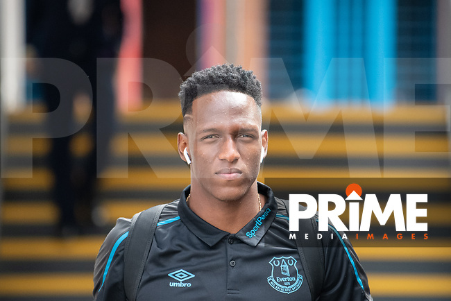 Everton Yerry Mina during the Premier League match between Crystal Palace and Everton at Selhurst Park, London, England on 10 August 2019. Photo by Andrew Aleksiejczuk / PRiME Media Images.
