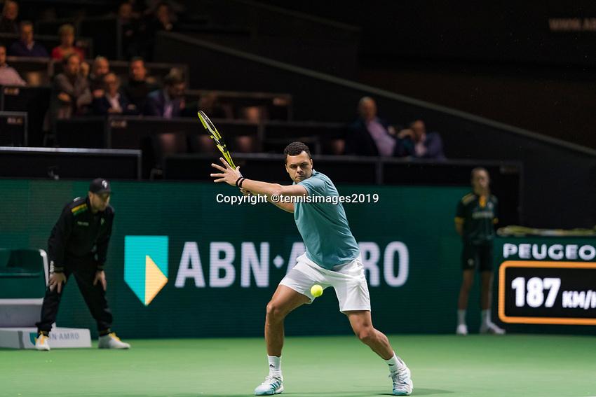 Rotterdam, The Netherlands, 14 Februari 2019, ABNAMRO World Tennis Tournament, Ahoy, Jo-Wilfried Tsonga (FRA),<br /> Photo: www.tennisimages.com/Henk Koster