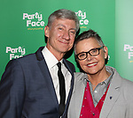 David Garrison and Amanda Bearse attends the Opening Night of 'Party Face' on January 22, 2018 at Robert 2 Restaurant in New York City.