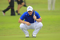 Paul Dunne (Europe) on the 8th green during the Friday Foursomes of the Eurasia Cup at Glenmarie Golf and Country Club on the 12th January 2018.<br /> Picture:  Thos Caffrey / www.golffile.ie