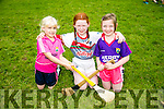 Enjoying the Finuge Hurling cul Camp on Tuesday were l-r  Caitlyn O'Mahony, Ella Nolan and Eve Cronin.