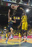 02.06.2019, EWE Arena, Oldenburg, GER, easy Credit-BBL, Playoffs, HF Spiel 1, EWE Baskets Oldenburg vs ALBA Berlin, im Bild<br /> Frantz MASSENAT (EWE Baskets Oldenburg #10 ) Luke SIKMA (ALBA Berlin #43 )<br /> <br /> Foto © nordphoto / Rojahn