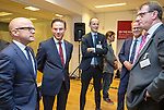 BRUSSELS - BELGIUM - 28 November 2016 -- Inauguration of the Nordic Energy Office. --  (f. Left) Vidar Helgesen, Minister for Climate of Norway; Jyrki Katainen, Vice-president of the European Commission, responsible for Jobs, Growth, Investment and Competitiveness; Jørgen (Jorgen) Madsen, Dansk Energiø Anders Stouge, Dansk Energi and Jukka Leskelä (Leskela, Leskelae), Finnish Energy. -- PHOTO: Juha ROININEN / EUP-IMAGES