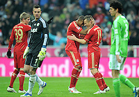 Fussball Bundesliga 2011/12: FC Bayern Muenchen - VFL Wolfsburg