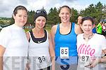 Heather Chandler Milltown, Aoife Leahy Ventry, Amy O'Connor Dingle and Grainne Ni? Chonchu?ir Ballyferriter enjoying the Milltown 10km race on Sunday.