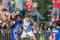 Allston, MA - Saturday August 19, 2017: Ifeoma Onumonu, Steph Catley during a regular season National Women's Soccer League (NWSL) match between the Boston Breakers and the Orlando Pride at Jordan Field.