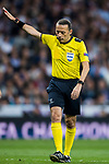 Referee Cuneyt Cakir in action during the UEFA Champions League Semi-final 2nd leg match between Real Madrid and Bayern Munich at the Estadio Santiago Bernabeu on May 01 2018 in Madrid, Spain. Photo by Diego Souto / Power Sport Images
