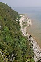 The rugged shoreline of Mackinac Island in Michigan.