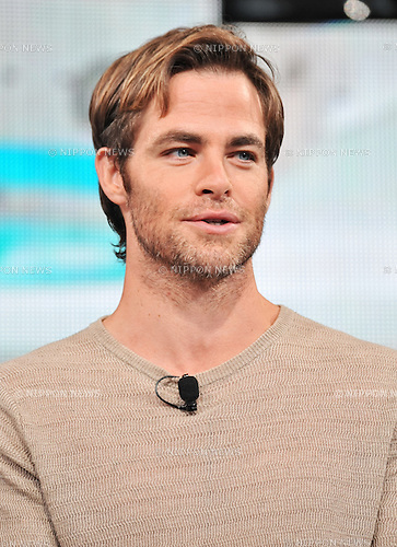 "Chris Pine, Aug 13, 2013 : Tokyo, Japan : Actor Chris Pine attends the press conference for ""Star Trek Into Darkness"" in Tokyo, Japan, on August 13, 2013."