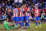 Atletico de Madrid's Nico Gaitán, Ángel Martín Correa, Yannick Carrasco, Filipe Luis and Antoine Griezmann and SD Eibar's Yoel Rodriguez during Copa del Rey match between Atletico de Madrid and SD Eibar at Vicente Calderon Stadium in Madrid, Spain. January 19, 2017. (ALTERPHOTOS/BorjaB.Hojas)