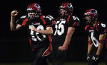 29 September 2006--Blackford at Eastbrook Football. Eastbrook Senior Clay Jones celebrates a defensive stop in the fourth quarter against Blackford during Eastbrook's Homecoming. PHOTO/Daniel Johnson dhjohnson@marion.gannett.com