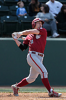 Patrick Claussen #11 of the Washington State Cougars bats against the UCLA Bruins at Jackie Robinson Stadium on March 24, 2012 in Los Angeles,California. UCLA defeated Washington 12-3.(Larry Goren/Four Seam Images)