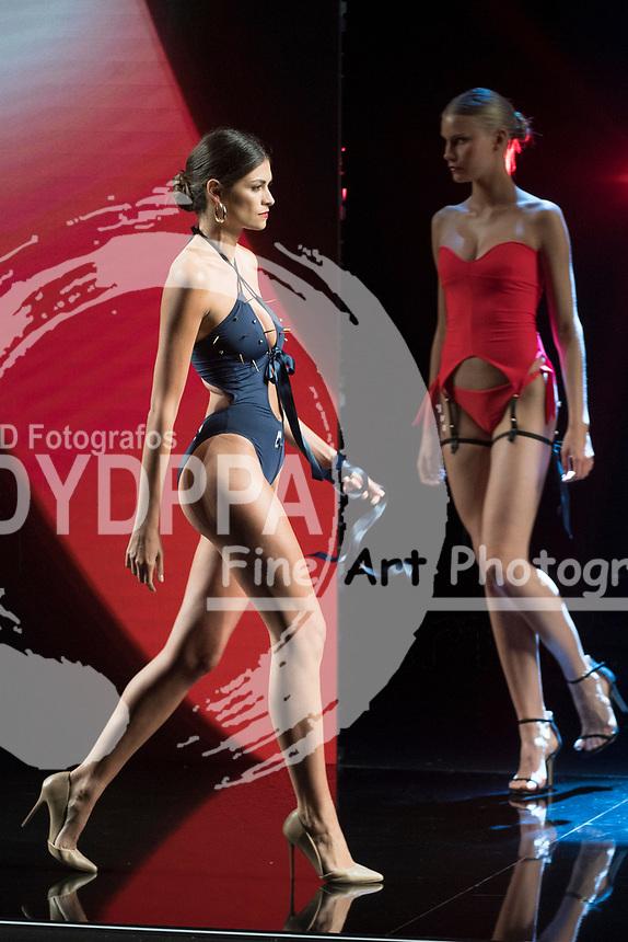 Model Linda Morselli poses (F1 pilot Fernando Alonso's girlfriend)