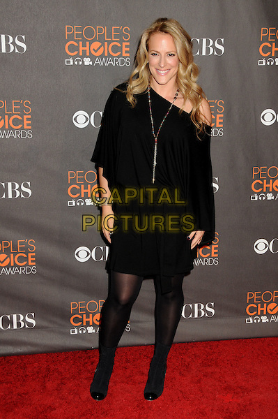 ANNE FLETCHER .36th Annual People's Choice Awards - Arrivals held at the Nokia Theatre LA Live, Los Angeles, California, USA..January 6th, 2009.full length black off the shoulder dress gold necklace .CAP/ADM/BP.©Byron Purvis/AdMedia/Capital Pictures.