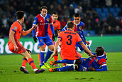 31st October 2017, St Jakob-Park, Basel, Switzerland; UEFA Champions League, FC Basel versus CSKA Moscow; Pontus Wernbloom of CSKA Moscow challenges Eder Alvarez Balanta of FC Basel for the ball