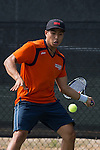 April 23, 2015; San Diego, CA, USA; Pepperdine Waves tennis player Kento Tamaki during the WCC Tennis Championships at Barnes Tennis Center.