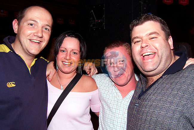 Tony Carley, Eimear Byrne, Fintan Kelly and Tony McDonnell enjoying a night out in McPhails..Picture: Paul Mohan/Newsfile