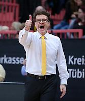 Basketball  1. Bundesliga  2017/2018  Hauptrunde  14. Spieltag  23.12.2017 Walter Tigers Tuebingen - Basketball Laewen Braunschweig JUBEL Trainer Mathias Fischer (Tigers)