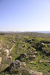Israel, Shephelah, ruins of a Byzantine Church in Modiin