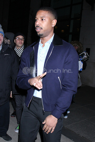 NEW YORK, NY - January 10: Michael B. Jordan seen in New York City on January 10, 2019. Credit: RW/MediaPunch