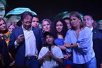 BOGOTA - COLOMBIA, 17-06-2018: Una de las hijas del candidato presidencial por el partido Coalición Petro Presidente, durante su discurso después de la segunda vuelta de las elecciones presidenciales de Colombia 2018 hoy domingo 17 de junio de 2018. El candidato ganador gobernará por un periodo máximo de 4 años fijado entre el 7 de agosto de 2018 y el 7 de agosto de 2022. / One of the daughters of the presidential candidate for Coalicion Petro Presidente party, during his speech after Colombia's second round of 2018 presidential election today Sunday, June 17, 2018. The winning candidate will govern for a maximum period of 4 years fixed between August 7, 2018 and August 7, 2022. Photo: VizzorImage / Diego Cuevas / Cont