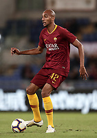 Football, Serie A: AS Roma - Frosinone, Olympic stadium, Rome, 26 September 2018. <br /> Roma's Steven Nzonzi in action with during the Italian Serie A football match between AS Roma and Frosinone at Olympic stadium in Rome, on September 26, 2018.<br /> UPDATE IMAGES PRESS/Isabella Bonotto