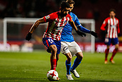 9th January 2018, Wanda Metropolitano, Madrid, Spain; Copa del Rey football, round of 16, second leg, Atletico Madrid versus Lleida; Diego Costa (Atletico de Madrid) controls the ball