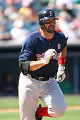 March 17th 2008:  Jason Varitek of the Boston Red Sox during a Spring Training game at Legends Field in Tampa, FL.  Photo by:  Mike Janes/Four Seam Images