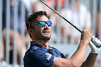 Former International rugby player Thom Evans during The 2017 Celebrity Cup golf tournament at the Celtic Manor Resort, Newport, South Wales. 1.07.2017 <br /> <br /> <br /> Jeff Thomas Photography -  www.jaypics.photoshelter.com - <br /> e-mail swansea1001@hotmail.co.uk -<br /> Mob: 07837 386244 -