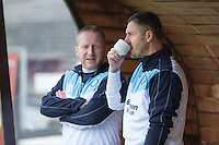 Wycombe coach Barry Richardson takes a drink ahead of the Sky Bet League 2 match between Plymouth Argyle and Wycombe Wanderers at Home Park, Plymouth, England on 30 January 2016. Photo by Mark  Hawkins / PRiME Media Images.